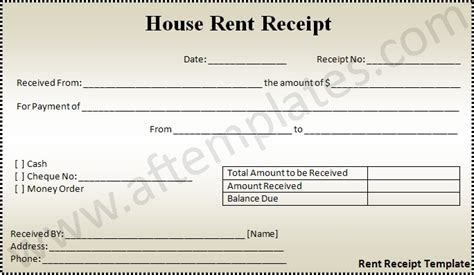 house rent receipts templates rent receipt template all free templates excel word