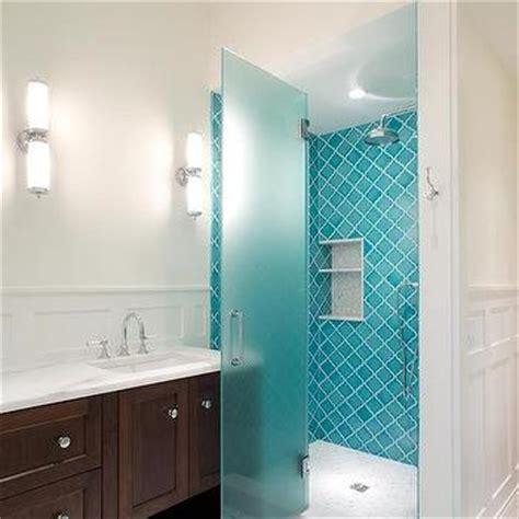 Blue Arabesque Tiles   Contemporary   Bathroom