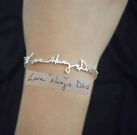 keepsake tattoo signature bracelet handwriting keepsake by
