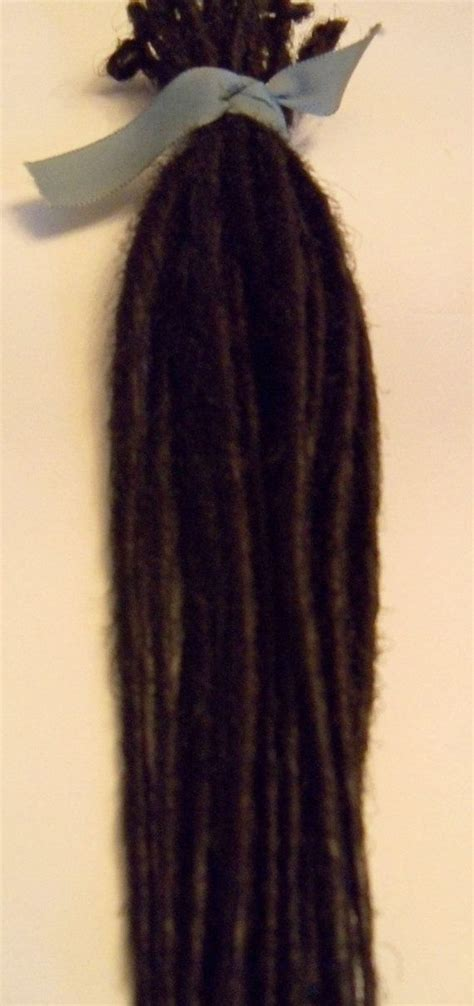 dreaded hair extensions 20 se single ended synthetic dreads dark brown dreadlock