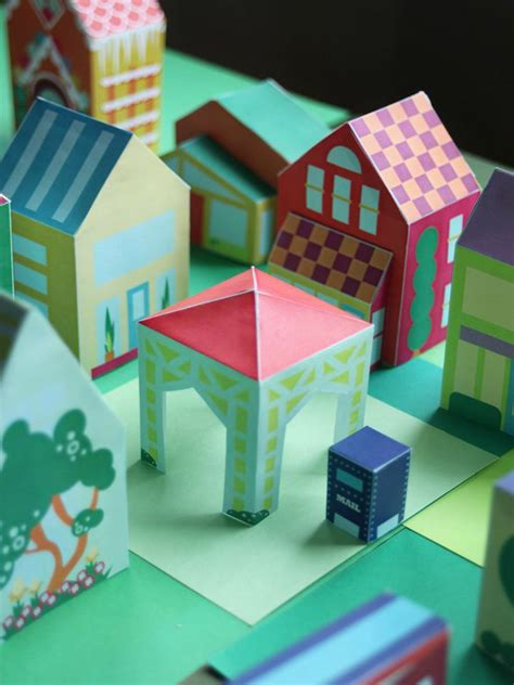 printable paper projects free printable neighborhood nr 14 town square gazebo