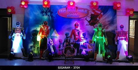 Power Rangers Decorations by Power Rangers Themed Birthday Decoration At Kurinji Nagar