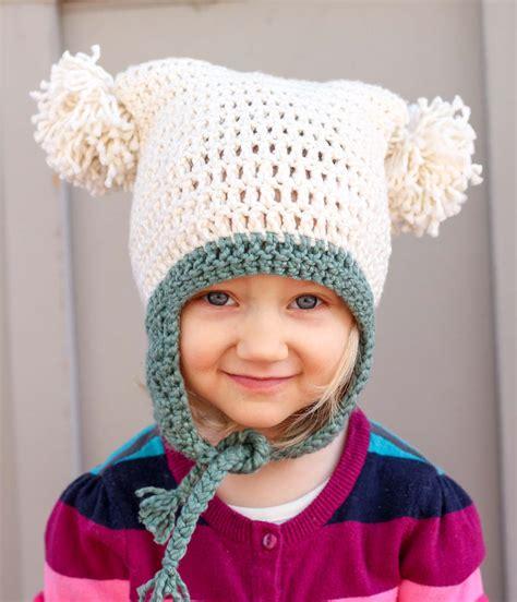 free pattern crochet hat free beginner crochet beanie hat pattern quot pom pom party quot