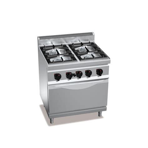 cucine gas professionali cucina professionale 4 fuochi gas con forno a gas