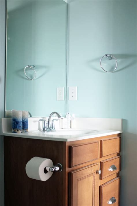 guest bathroom paint makeover school of decorating by jackie hernandez