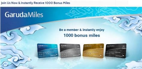 membuat garuda frequent flyer join garuda indonesia to instantly receive 1000 welcome miles