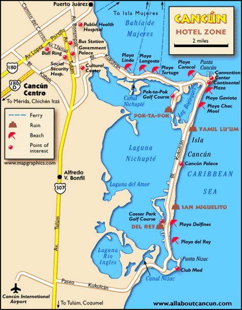 map of cancun cancun area maps printable cancun map