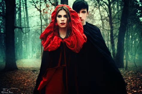 black hair with red riding hood little red riding hood ii the encounter by