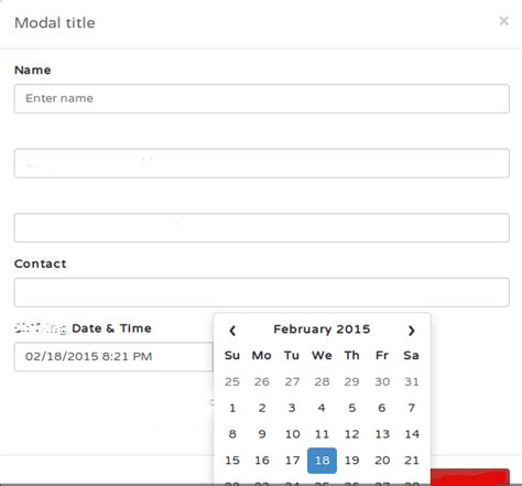 jquery datepicker not showing properly on a modal window javascript bootstrap datepicker appearing at incorrect