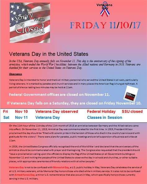 Mba Veterans Login by Veterans Day On 11 1 2017 Ssu Business