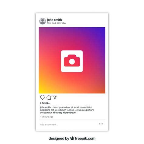 instagram bericht met transparante achtergrond gratis vector