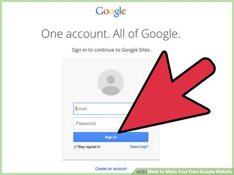 google design your own website how to make your own google website 11 steps with pictures