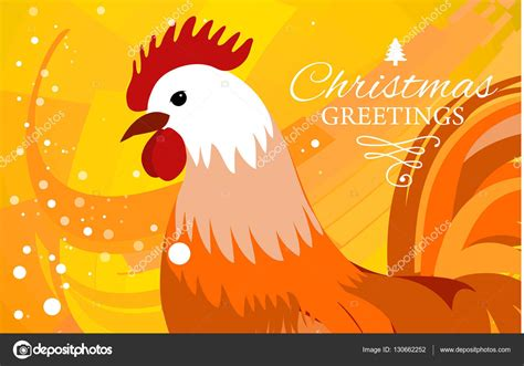 new year 2017 year of the rooster 2017 new year greeting card