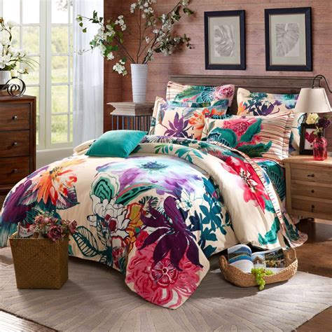 cheap boho bedding twin full queen size 100 cotton bohemian boho style floral