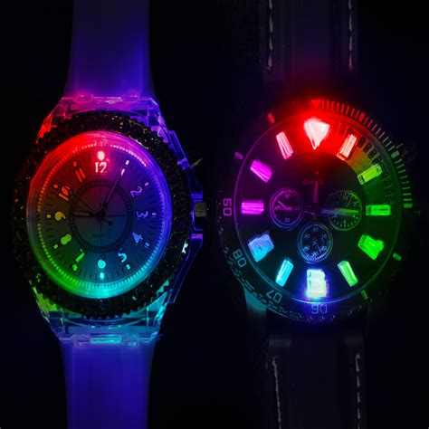 Led Watch Light Up Colour Change Male Female Light Up Pictures