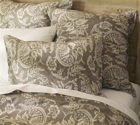 gray floral bedding alessandra floral reversible duvet cover sham gray