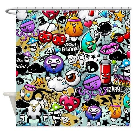 graffiti shower curtain cool graffiti shower curtain by bestshowercurtains