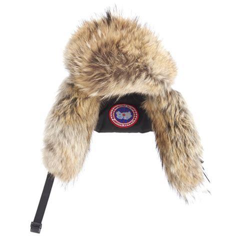 canada goose s aviator coyote fur hat black free