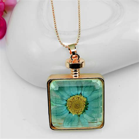 aliexpress buy dried flowers glass necklace