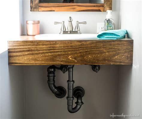 sink floating vanity diy floating wood vanity
