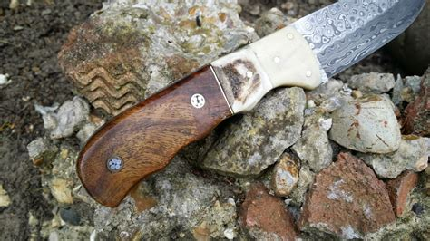 Handmade Bushcraft Knives Uk - handmade damascus bushcraft knife bt14 perkin