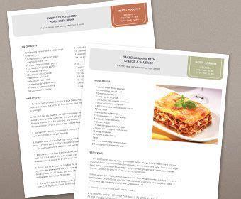 free recipe template for word recipe card template free recipe book
