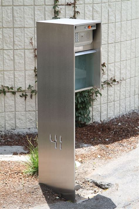 crafted contemporary minimalist modern stainless - Contemporary Mailboxes