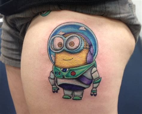minion tattoo designs 30 amazing leg and thigh tattoos