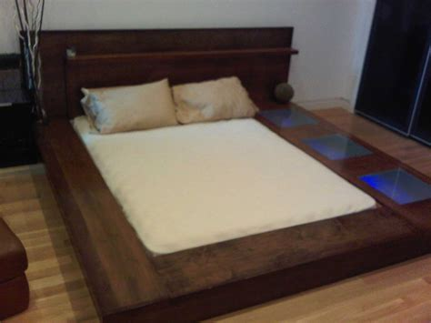 diy queen size platform bed how to make a platform bed frame with storage underneath
