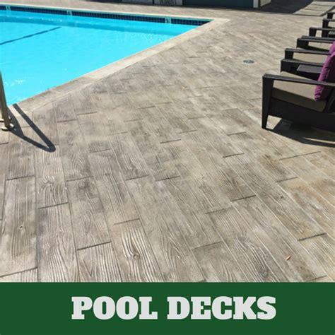 Stamped Concrete Pool Decks in Lansing, Michigan