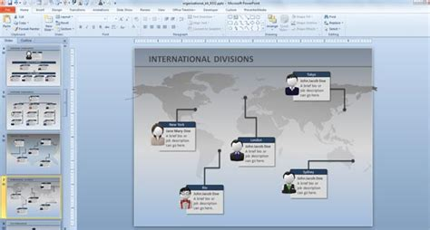 Organization Chart Template Powerpoint 2010 Org Chart Template Powerpoint 2010