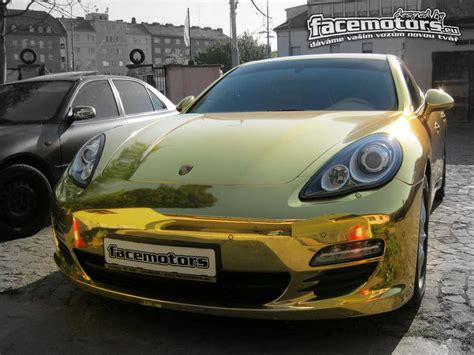 chrome porsche panamera overkill chrome gold porsche panamera by facemotors
