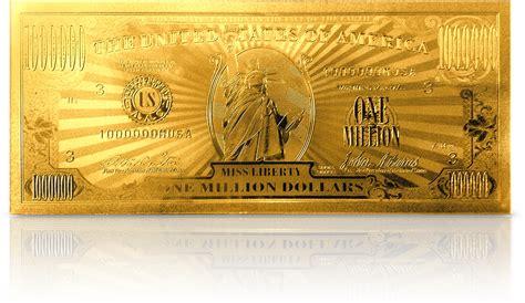 gold dollar gold million dollar bill goldmillbill