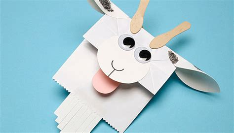 goat crafts for paper baaa g goat puppet