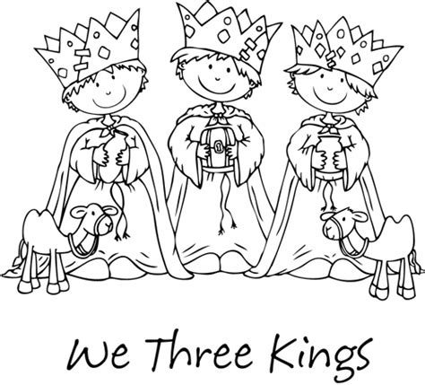 we three kings coloring sheet coloring pages
