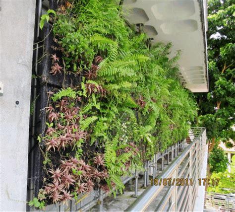 ngee ann polytechnics vertical extensive green wall