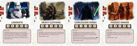 Wars Ffg Npc Card Template by Custom Weapon Armor And Item Cards Wars Edge Of