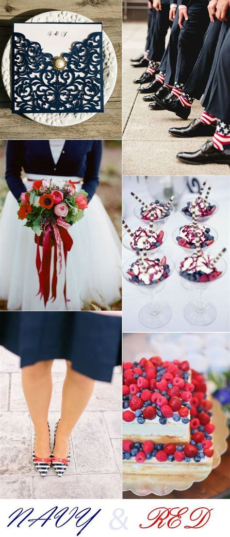 17 Best ideas about Navy Red Wedding on Pinterest   Blue