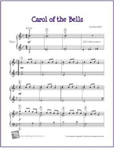 best carol of the bells version carol sheet for piano the international book of carols vocal j w