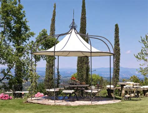 unopiu gazebo wrought iron gazebo canvas covering tristan unopiu