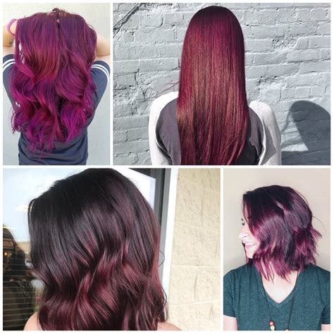 what colors are in for 2017 2017 plum hair colors for your next appointment best