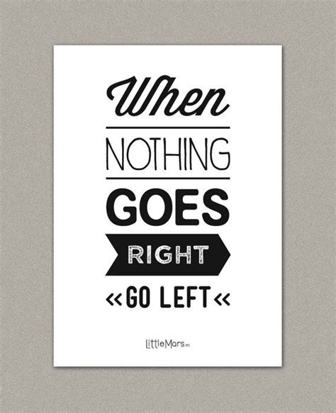 printable a4 quotes a4 typographic print quote print when nothing goes