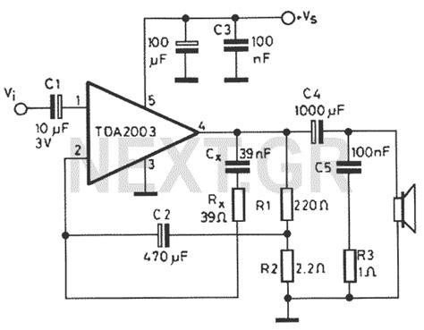 Ic Tda 2003 Ic St Audio Lifier 8 watts audio lifier tda2003 circuit diagram world