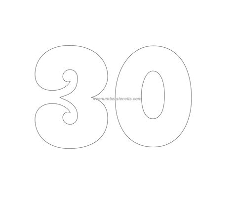 free number templates free groovy 30 number stencil freenumberstencils com