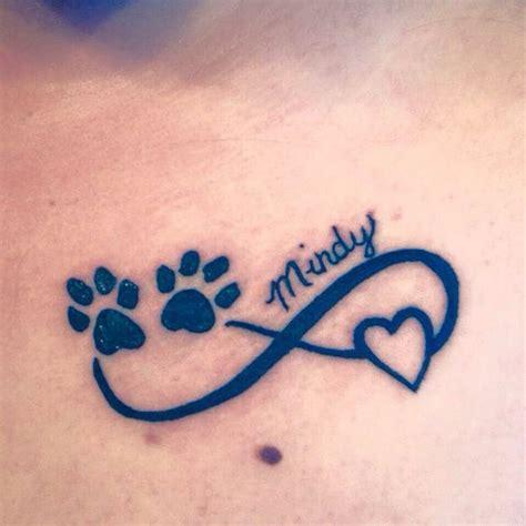 tattoo infinity dog mejores 40 im 225 genes de infinity dog tattoos for women en