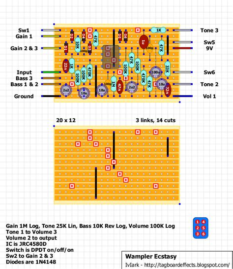 stage center reverb schematic stompboxed the guitar pedal builders repository wler