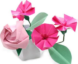 Origami Beautiful Flowers - how to make origami flowers simple origami flower design