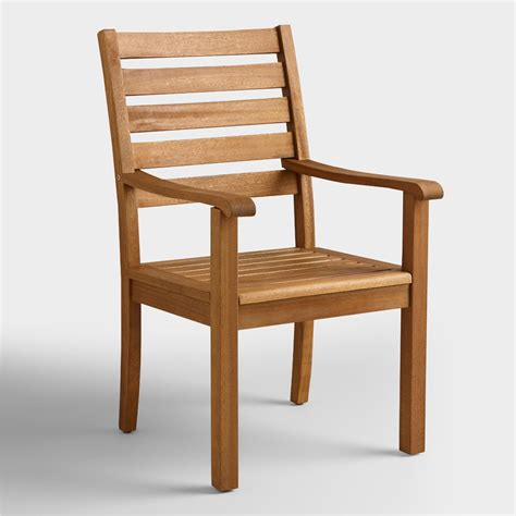 world market armchair wood praiano outdoor dining armchair world market