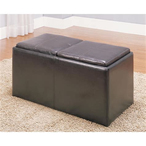 reversible ottoman homelegance ottomans 469pu casual ottoman with reversible