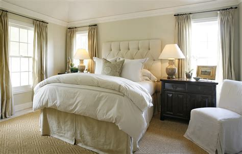 soft traditional master bedroom the tailored pillow velvet tufted headboard traditional bedroom ashley